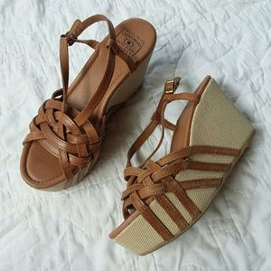 Lucky Brand Stacey Strappy Leather Platform Sandal